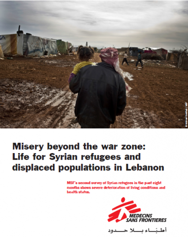 Misery beyond the war zone: Life for Syrian refugees in Lebanon