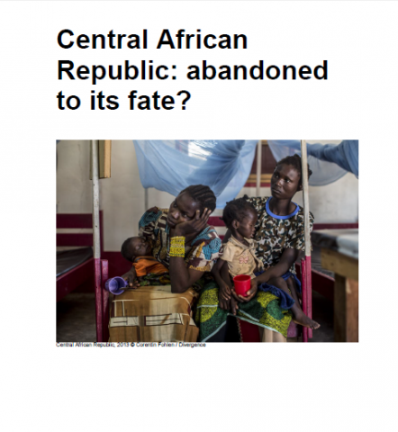 CENTRAL AFRICAN REPUBLIC: Abandoned to its fate?