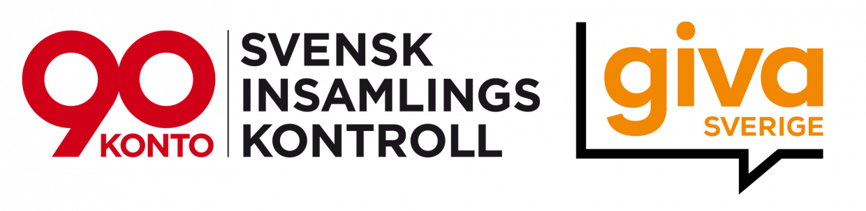 Logotyp för 90-konto och Giva Sverige